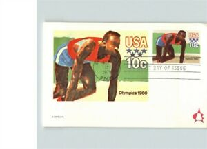Jesse Owens, OLYMPIC GOLD MEDALIST, First Day of Issue on card