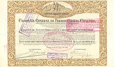 Compania General de Ferrocarriles Catalanes, obligacion, Barcelona, 1924