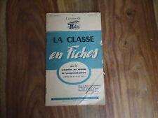 ANCIEN LIVRE SCOLAIRE LIVRET LA CLASSE EN FICHES 1956 STUDIA CEPE