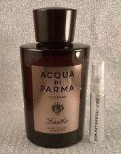 Acqua Di Parma Colonia Leather Cologne Edp 5ml SAMPLE Travel Oud Mediterraneo