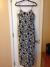 Womens J.Crew Black+White Fully Lined Hidden Pocket Maxi Dress Size 4