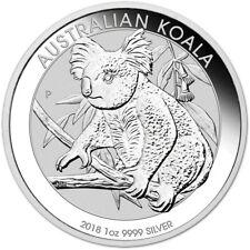 2018 P Australia Silver Koala (1 oz) $1 - BU