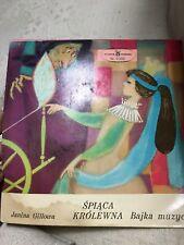 Bajka Muzyczny Śpiąca Królewna Album LP Janina Gillowa Polish Sleeping Beauty