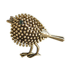 Lady Charms Cold Bird Brooches Antique Gold Plated Animal Brooch Pin Party Gift