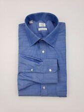 Ike By Ike Behar Blue Dress Shirt 16.5 33 Mens Ike-Eze Performance Cotton Size