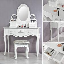 Frisiertisch Kosmetiktisch Frisiertisch antik + Spiegel und Hocker Schlafzimmer