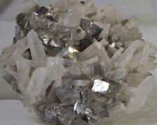 #3515 Large Arsenopyrite and Quartz, with Fluorite on back - China