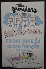 The GROWLERS Wet Dreams Tour 2016 Denver 11x17 Promo Concert Flyer / Gig Poster