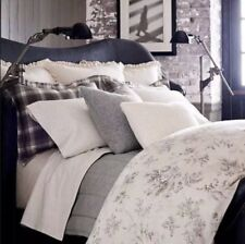 Ralph Lauren Hoxton Ainslie Floral Cotton Cream & Grey King Comforter $355