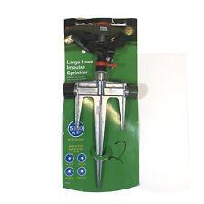 Poly Head on Metal Spike 5800 SQ. FT Large Lawn Impulse Sprinkler SKU 713740