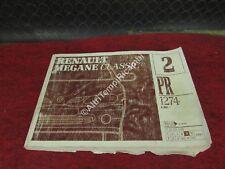 MANUALE 2 PR 1274 RENAULT MEGANE CLASSIC