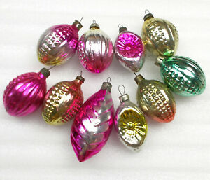 10 Antiker Russen Alten Christbaumschmuck Glas Weihnachtsschmuck Ornaments