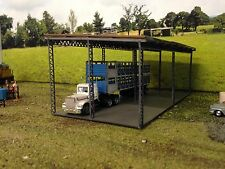 Large farm shed/hay shed/truck shed HO scale laser kit