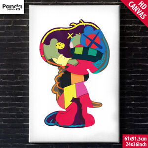 KAWS Snoopy Canvas Poster (60x90cm/24x36in) Pop Art Print