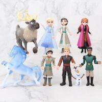 Frozen 2 Movie Figure Set of 9 Deluxe Anna Elsa olaf Nokk Water Spirit Horse