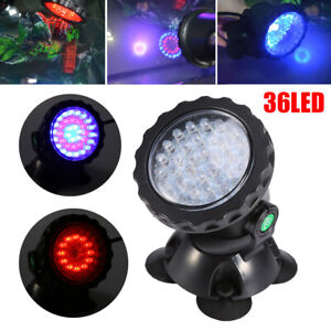 Submersible 36 LED RGB Pond Spot Lights Underwater Pool Fountain Waterproof