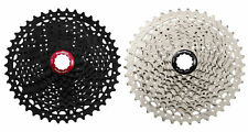 SHIMANO & SRAM COMPATIBLE SUNRACE 11- 42 TEETH 10 SPEED MTB CASSETTE BLK OR SIL