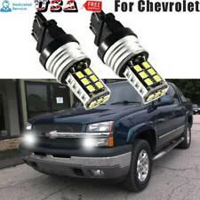 2PCS Set 3157 3156 White 15-SMD LED Bulbs Daytime Running Lights for Chevrolet