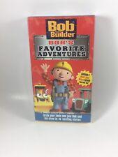VHS Bob The Builder Bob's Favorite Adventures sealed!!!!