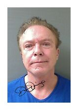 David Cassidy mug shot A4 reproduction autograph poster with choice of frame