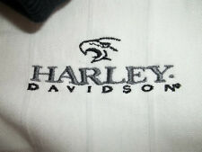 "HARLEY- DAVIDSON  MEN'S WHITE POLO SHIRT SIZE L  "" H-D OF NEW ORLEANS GRETNA LA"