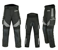 Waterproof Motorbike Motorcycle Trouser Pent Gears CE Armoured Lined - Black
