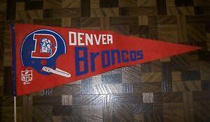 Vintage Denver Football Broncos 1967 Full Size Pennant, NFL