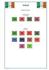 Ireland Full Colour Illustrated Stamp Album Pages 1922-2019 (439 Pgs). PDF.