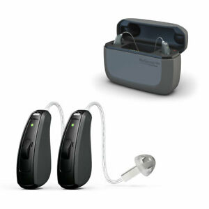 Resound LiNX Quattro 5 RIC Rechargeable hearing aid X 2 (Pair) and charger