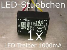 LED DC/DC Konstantstromquelle 1000mA, LDD-1000 HW, LED-Treiber step-down