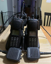 2 Motorola Xts3000 Radios With Chargers And Switch Microphones H09Uch9Pw7Bn