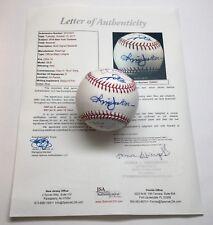 2010 NY Yankees Reggie Jackson Derek Jeter + 6 Signed Ball JSA LOA (237)