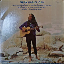 JOAN BAEZ: Very Early Joan-NM1982 2LP NEVER PREVIOUSLY RELEASED PETE SEEGER