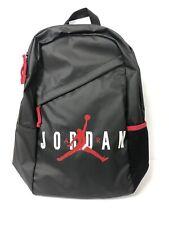 "Nike Air Jordan Backpack Large Laptop Bag Black Big Logo 15"" NWT"