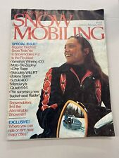 1972 Jan/Feb Snowmobiling Snowmobile Magazine Kathy Bentley Raider 400