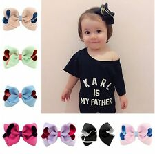 "20 Pcs 4"" Girls Grosgrain Ribbon Hair Clips  Double Color hair bows For Girls"