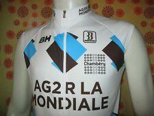 Ancien MAILLOT BIEMME AG2R LA MONDIALE M/3 SANS MANCHE UCI Pro Cycling Team Vélo
