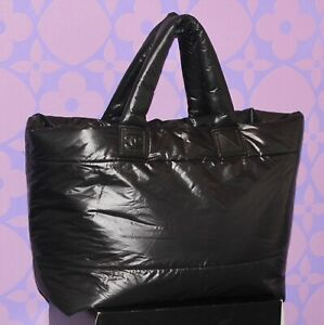 CHANEL *COCOON* XL Nylon Quilted Puffer Style REVERSIBLE Travel Tote Bag LIMITED
