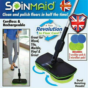 Wireless rotary electric mop Rechargeable Powered Floor Cleaner Scrubber Polish