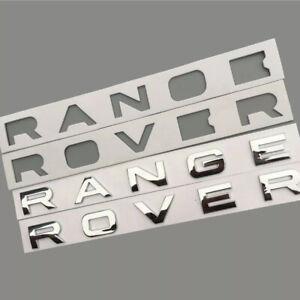 Logo RANGE ROVER Chrome Brillant Stickers 3D 52cm X 4cm