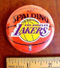 LOT OF 2 LOS ANGELES LAKERS SPALDING BASKETBALL 2010 NBA LOGO WINCRAFT USA PIN
