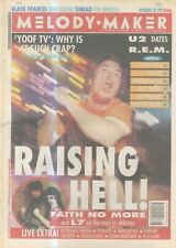 """(ANEW11) NME NEWSPAPER COVER PAGE 15X11"""" FAITH NO MORE & L7 28/11/1992"""