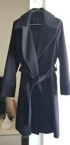 Forever New Black Long Coat Size 16