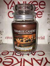 Warm Chestnut Yankee Candle 623g 22oz Large Jar - Brand New Genuine