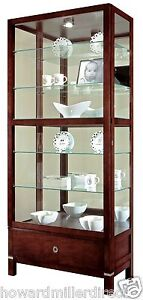 Howard Miller 680-515 Williamson - Curio Display Cabinet with Drawer 680515