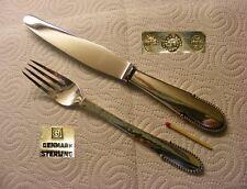 Georg Jensen 925er Steling Silver - Beaded - 1 Dinnner set Fork & Knife