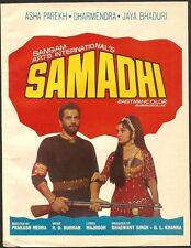 India Bollywood 1972 Samadhi press book Dharmendra Jaya Bhaduri Asha Parekh