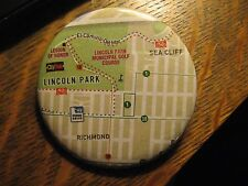 San Francisco California USA Richmond Sea Cliff Neighborhood Map Pocket Mirror
