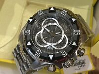 24261 Invicta Men's 52mm Excursion Quartz Chronograph Black Dial Bracelet Watch
