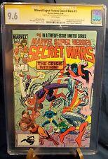 MARVEL SUPER HEROES SECRET WAR # 3 CGC SS 9.6 2XSIGNED MICHAEL ZECK JOHN BEATTY